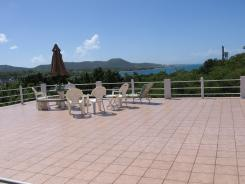 Vieques PR villa rental terrace view