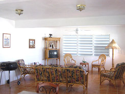 Vieques PR villa rental upper living room